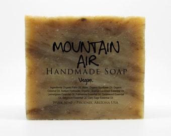 Mountain Air Handmade Soap, Vegan, Organic, 100% Natural, Essential Oils