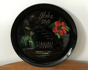 Hawaiian Souvenir Lacquer Tray