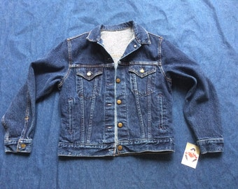 80s Denim Jacket / Nineties Jean Jacket / Dark Wash Jean Jacket / Snap Up Jacket / Oversized