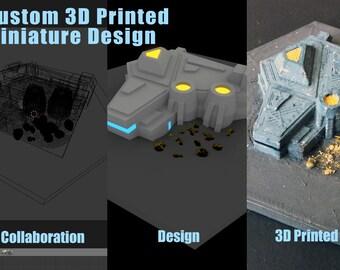 Custom 3D Printed Miniature Design, Custom 3D Design, Custom Design Miniature, 3D Printed Miniature ,Your Own 3D Printed Miniature Design