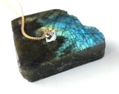 Delicate Herkimer Diamond Quartz Necklace | Gold Filled or Sterling Silver