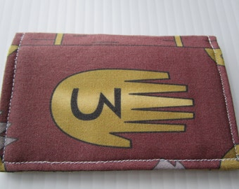 Gravity Falls, Journal #3 Wallet, Bill Cipher Fabric Wallet, Mystery Shack, Stanford Pines, Dipper Pines, Steven Universe, Trust No One