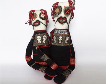 Voodoo Doll Gothic Horror Doll Halloween Monster Creature Ugly