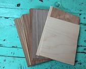 "Wood veneer in pack of 20 small 5x7 pieces / Placage de bois en paquet de 20 morceaux de 5x7"""