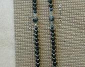 Custom order for Trisha/Yin Yang/ Quartz, Rutilated Quartz, Shungite, Larvikite, Lapis, Silver Prayer Beads 108 Japa Mala,  One of a Kind