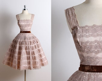 Vintage 50s Dress | 1950s Rappi dress | vintage party dress xs/s | 5705