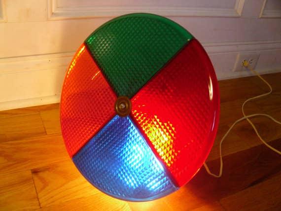 vintage spartus rotating color wheel