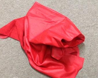 PREM556.  Elmosoft Red Leather Cowhide Partial