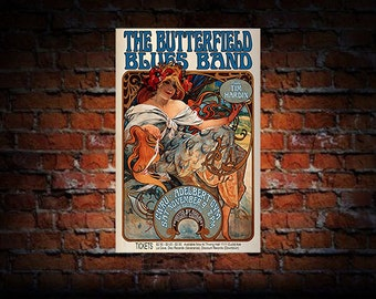 Butterfield Blues Band 1968 Cleveland Concert Poster