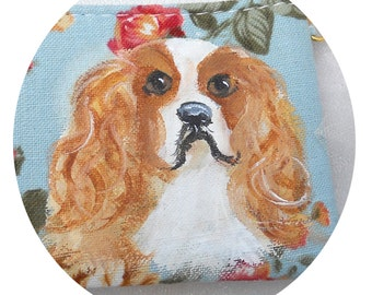 Blenheim Cavalier King Charles Coin Purse ~ Gifts for Her ~ Cavi Owner Gift ~ April Birthday ~ Dog Coin Purse