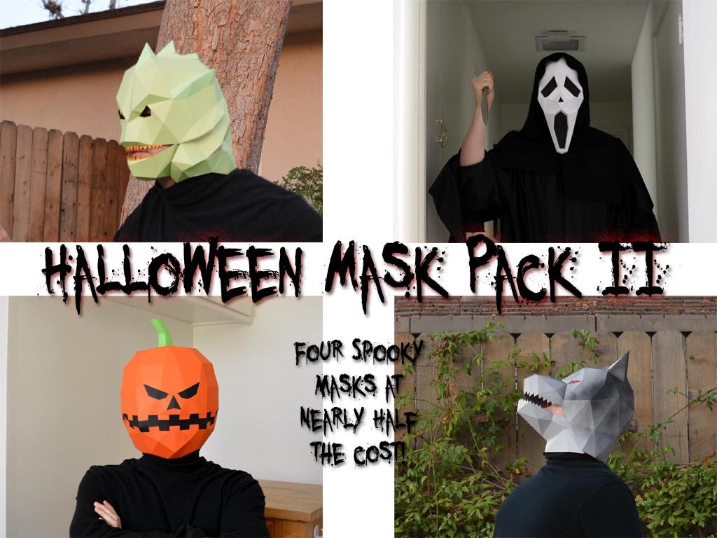 Halloween Mask Patterns - Four in One! Make Your Own Werewolf ...