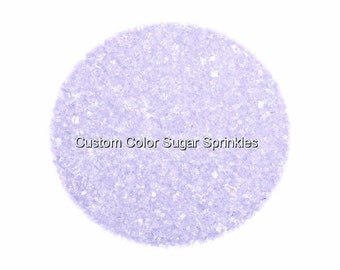 Pastel Lilac Sanding Sugar Edible Sprinkles Custom Colors,Cake Cookie Decorations Confetti