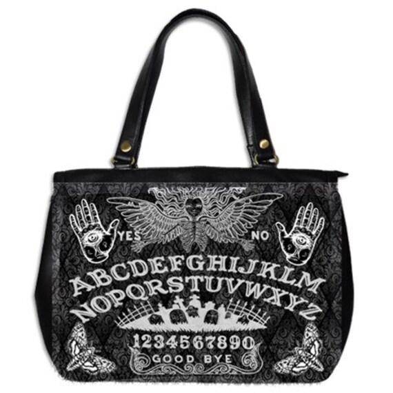 Ouija on Damask Large Handbag