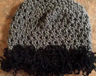 "Crocheted Child's Hat with ""Squiggle"" Yarn"