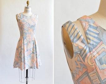 Vintage 1990s MINI dress w/ cutaway shoulder