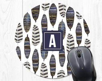 Mouse Pad Mousepad Monogram Mouse Pads Office Desk Accessories for Women Desk Decor Cubicle Decor Office Supplies Banana Leaf Tropical