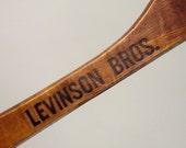 Wood Hanger Levinson Bros Clothiers New York City Vintage