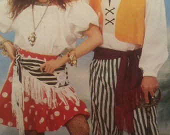 Pirate Halloween Costume, Adult Costume Pattern, Men and Women's Costume Sewing Pattern,  Butterick 6731