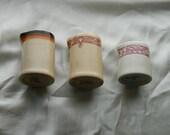 "3 Shenango China New Castle PA Creamers Inca Ware USA Vintage 1960""s Individual Size"