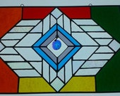 Stained Glass Panel, Rainbow, Transom, Privacy Panel, Art Glass, Rainbow Reflection