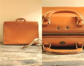 50s Leather Suitcase  //  Large Leather Suitcase  //  THE LIEBERMANN