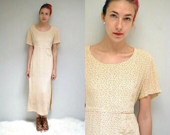 90s Long Dress  //  90s Rayon Dress  //  SACRED THREADS