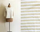 vintage shirt sailor breton tshirt striped taupe beige white clothing size large l