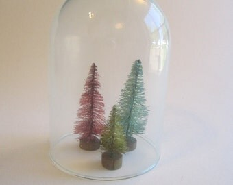 small glass dome - 4 inches tall - dome only