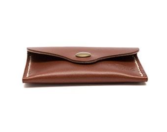 QMC Handmade Leather Card Holder MTA Pocket Wallet - Tan