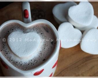 Heart Shaped Gourmet Marshmallows {bulk order of 80 pieces}