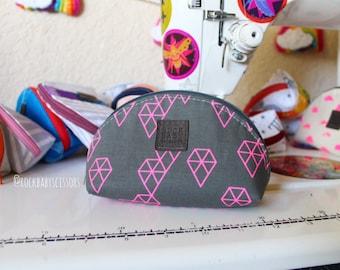 Geo Drops Dumpling pouch | Zipper pouch | Travel pouch | Small zipper pouch