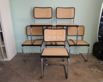 MID CENTURY MODERN Marcel Breuer Reproduction Cesca Chairs Set of 6 (Los Angeles)