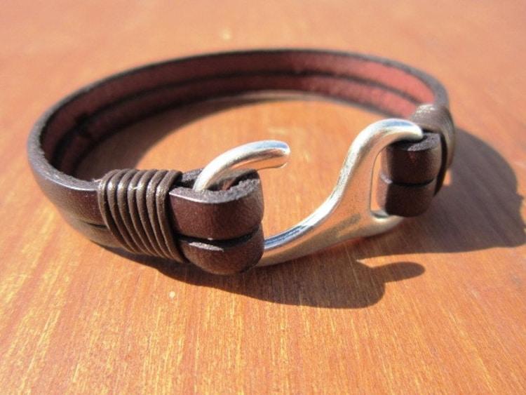 Fish hook bracelet fishing bracelet bracelets for men by for Mens fishing bracelet