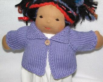 Waldorf Doll Sweater for 13 inch Doll in Medium Purple Wool RTG