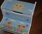 New for 2016 - Kids Personalized 2 Step Stool - You Are My Sunshine