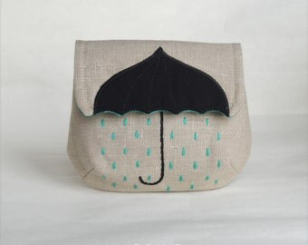 Raining all the time (turquoise, beige)