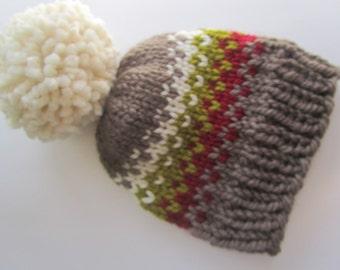 Fair Isle Knit Hat, Fair Isle Hat, Knit Hat, Women's Knit Hat, Men's Knit Hat, Winter Hat, Hand Knit Hat, Knit Hat, Chunky Knit Hat