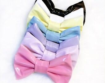 Mini PVC Hair Bow - Pastels