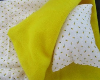 Yellow Rose Doll Sleeping Bag Doll Bedding for American Girl or other 18 inch doll