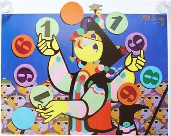 Bjorn Wiinblad print poster Golden Center for the Performing Arts 1989