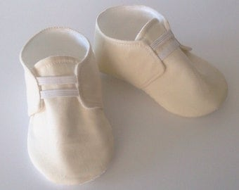 Ivory Baby Shoes with Elastic | Newborn size up to 18 Months