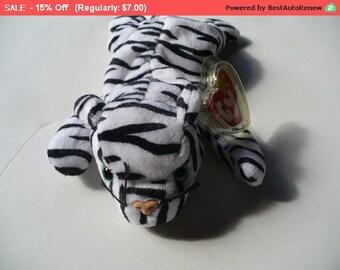 White Tiger Stuffed Animal, Ty Beanie Babies, Blizzard Tiger Toy