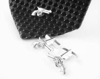 Mens Cuff Links - Silver Cufflinks - Tie Tacks For Men - Mens Gift Set - Men Christmas Gift