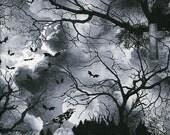 Wicked Eve Graveyard - Timeless Treasures - Half Yard