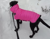Waterproof Insulated, sherpa lined any solid color Large Dog Winter Jacket