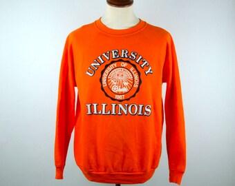 1970's University of Illinois Sweatshirt, Fighin' Illini Sweatshirt