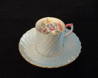 John Aynsely Blue Swirled (Terse) Demitasse Mint Condition