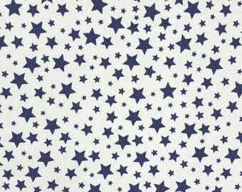 Blue stars Cotton Twill/Bottom Weight