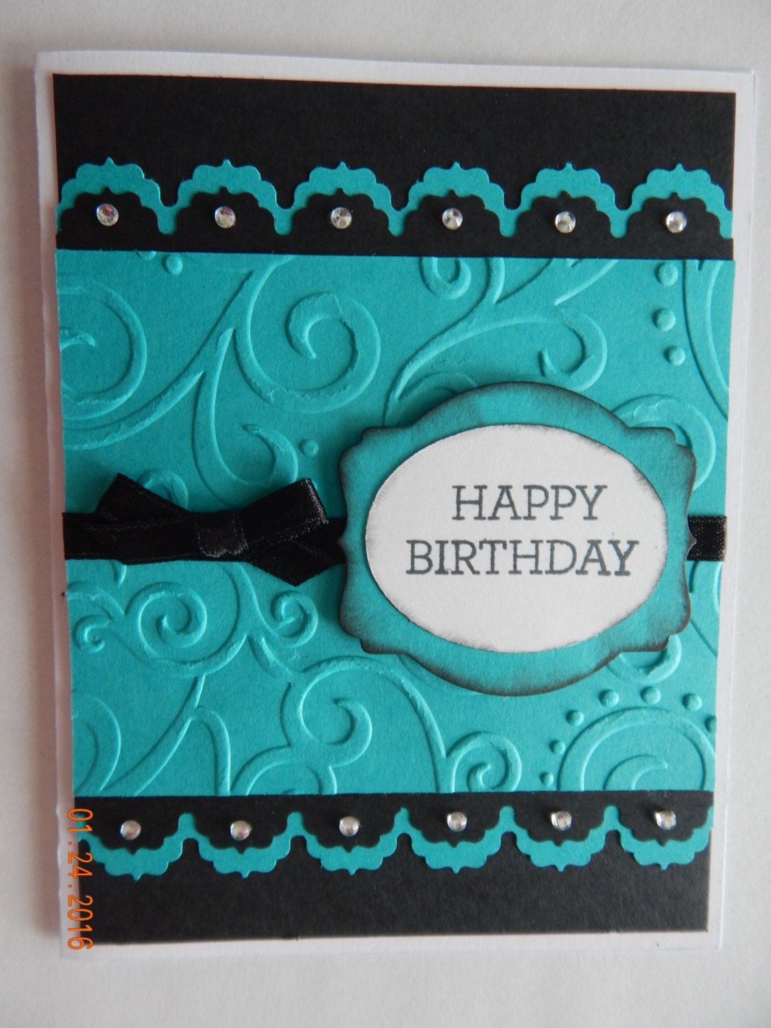 Handmade Scroll Happy Birthday Cards