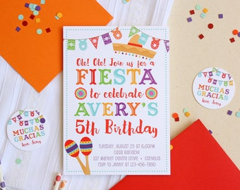 Fiesta Invitation - Fiesta Birthday Invitations - Fiesta Party Invitations - Cinco de Mayo Invitations - Summer Party Invitations